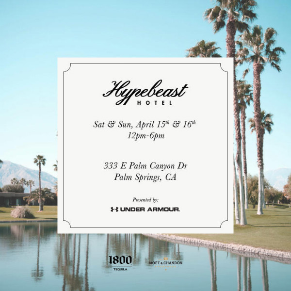 hypebeast hotel x under armour party invitation