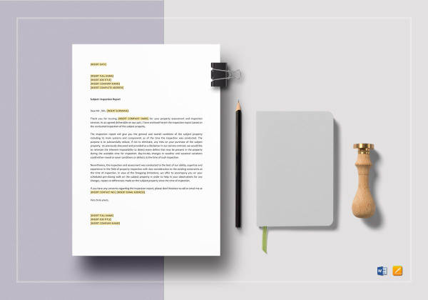 inspection report template to edit
