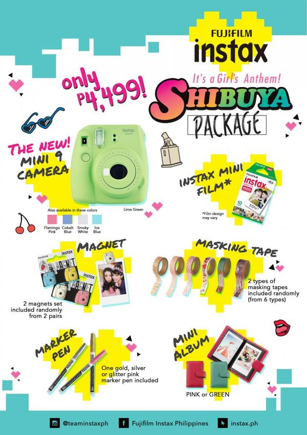 instax shibuya package flyer