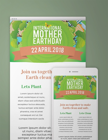 international earth day email newsletter