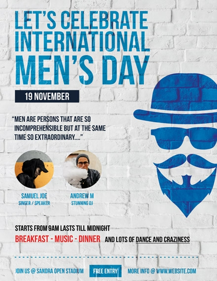 international mens day poster sample