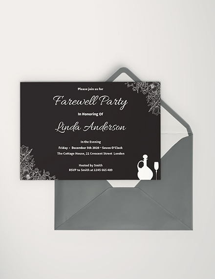 Intricate Farewell Invitation