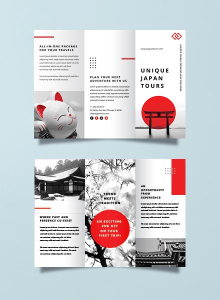 japan travel brochure template1