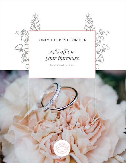 jewelry store discount poster template1