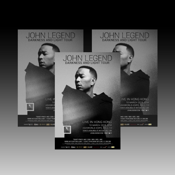 John Legend Live Music Flyer