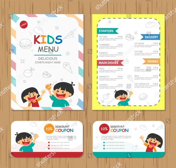 kids menu discount coupon example