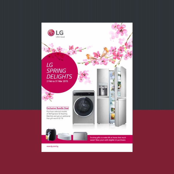 lg home appliances business flyer