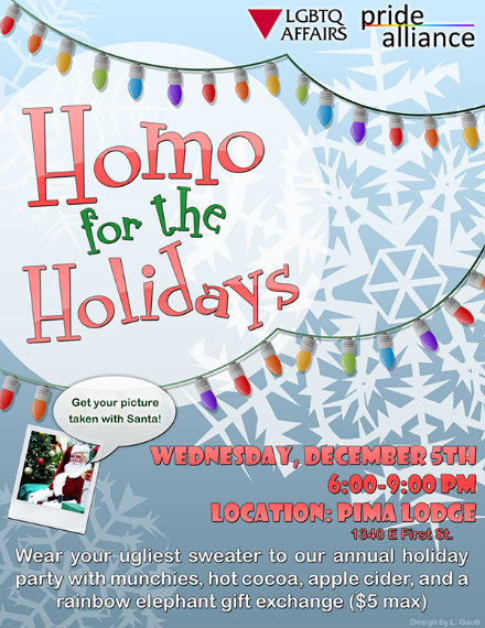 lgbtq holiday party flyer