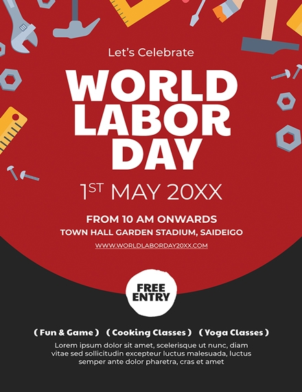 Labor Day Business Poster Template