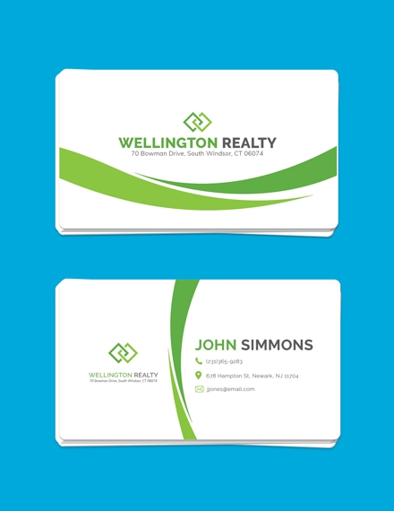 landscaping business card example