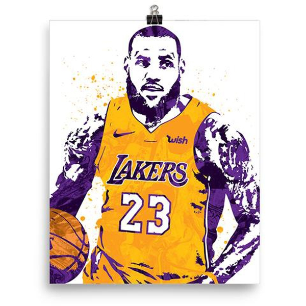 LeBron Lakers Sports Poster