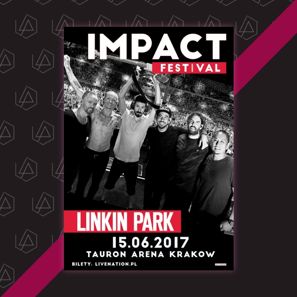 Linkin Park Impact Festival Music Flyer