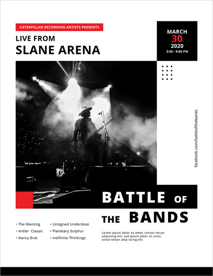 live concert poster template1