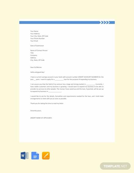 loan application letter2