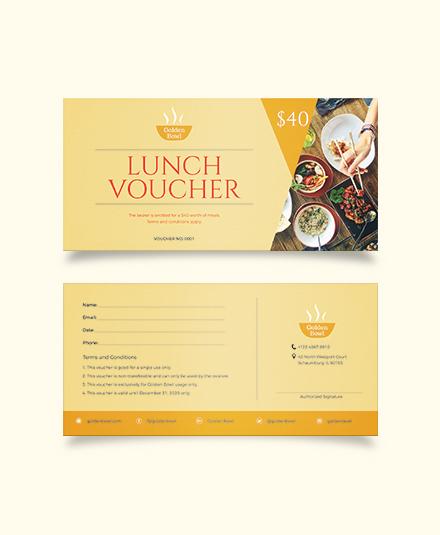 lunch voucher