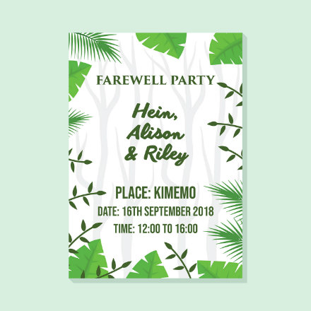 lush farewell invitation