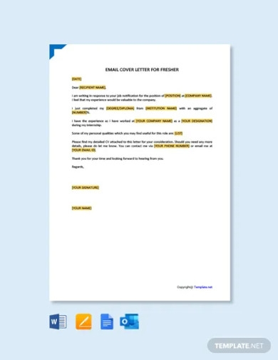 mail cover letter for fresher