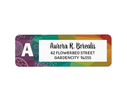 mandala design address label