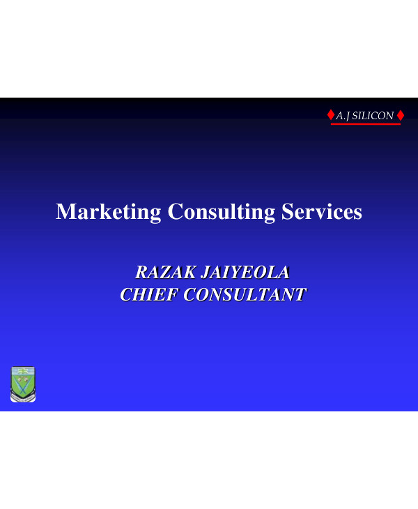 marketing consulting services business plan example1