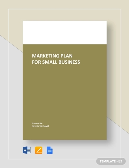 marketing plan for small business example