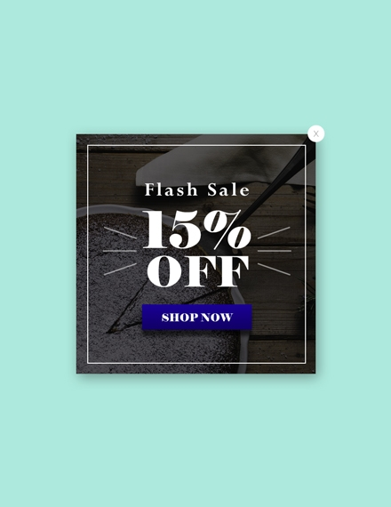 Marketing Website Flash Sale Pop up Sample