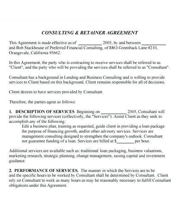 master training consultant contract template example1