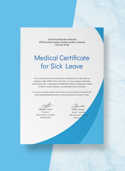 14 Medical Certificate Examples Templates In Word Pdf Excel
