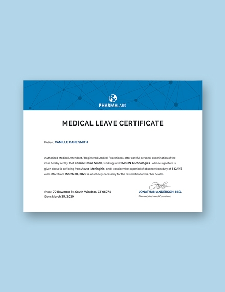 medical certificate for casual leave