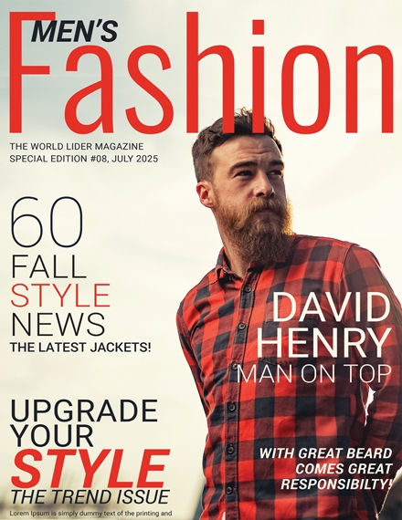 mens fashion magazine cover template