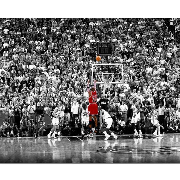 michael jordan last shot sports poster