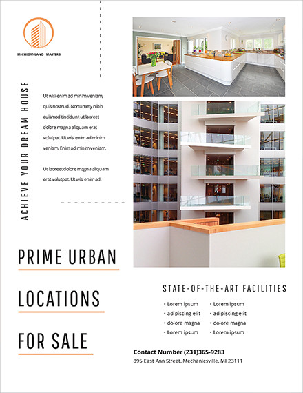 minimal real estate flyer template1