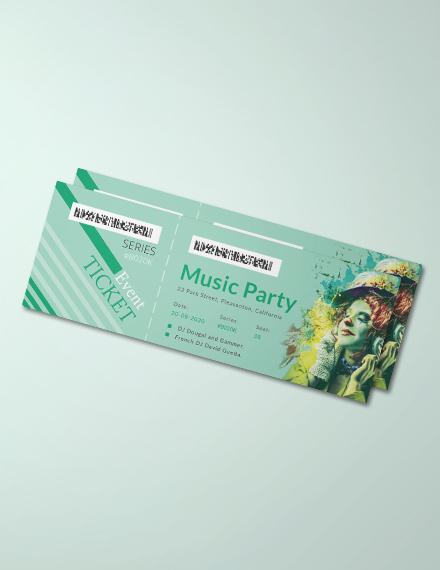 modern concert ticket