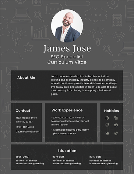 modern seo resume design