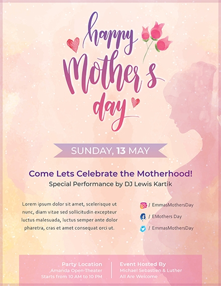 mothers day flyer template1