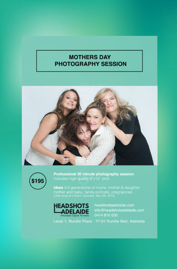 mothers day photography session flyer