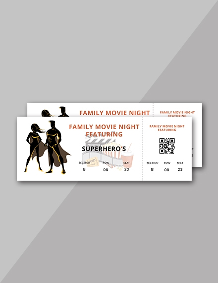 movie night ticket sample