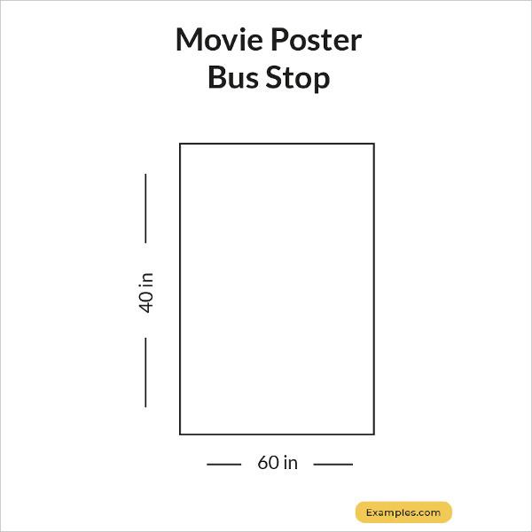 movie poster bus stop