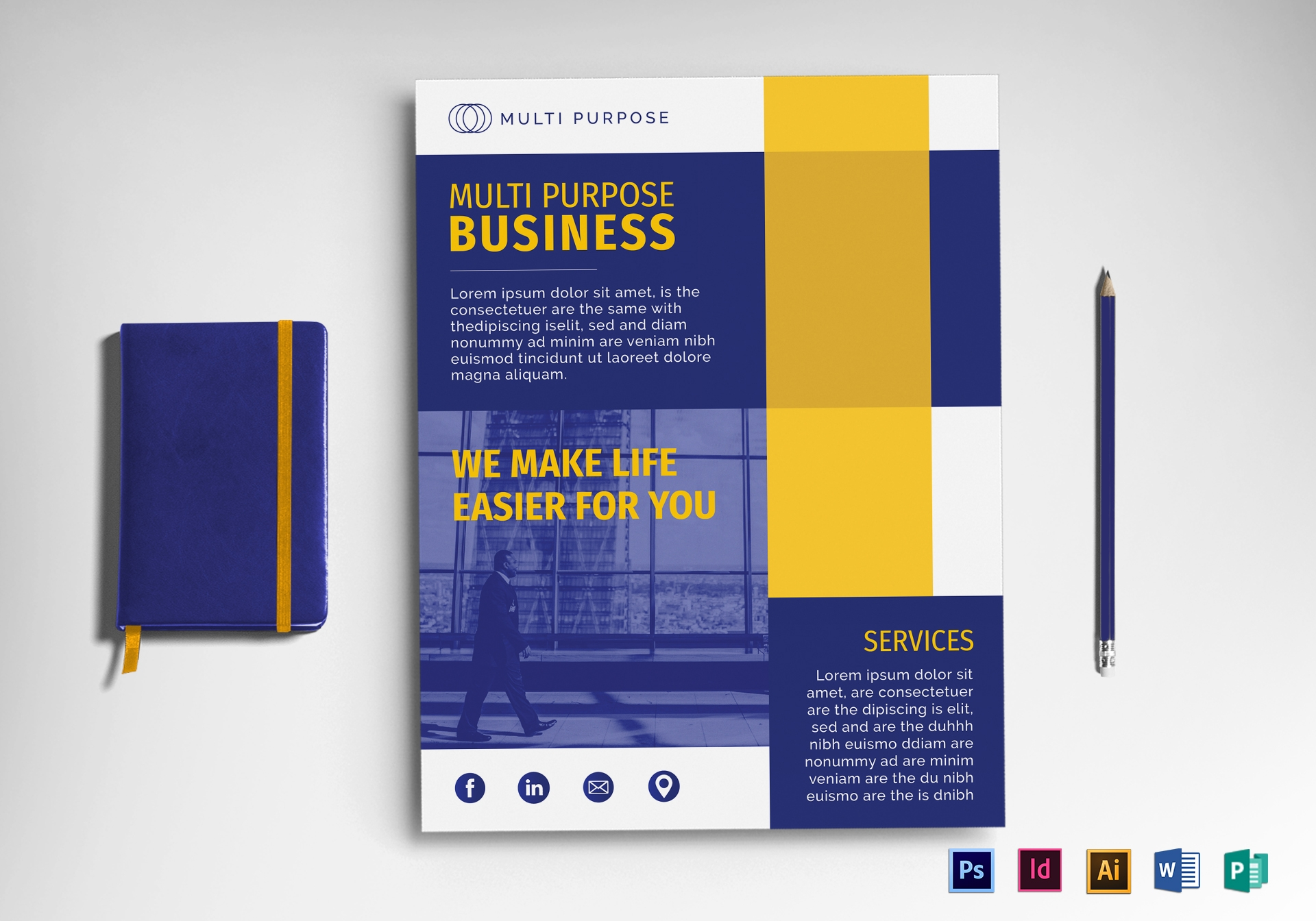multi purpose business flyer template