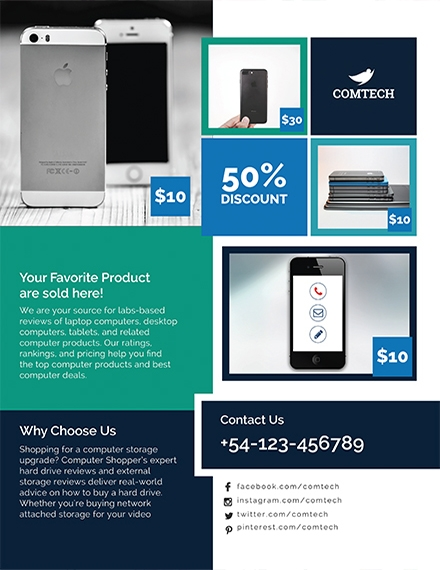 multi purpose product promotional flyer template example