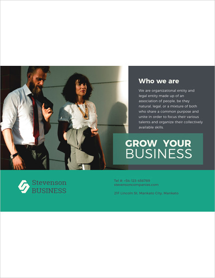 multipurpose business postcard