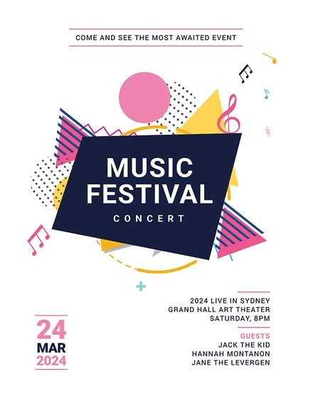 music festival concert poster flyer