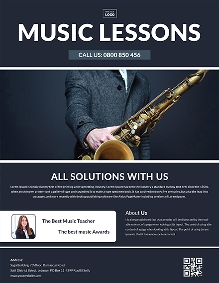 Music Learning Center Flyer Template