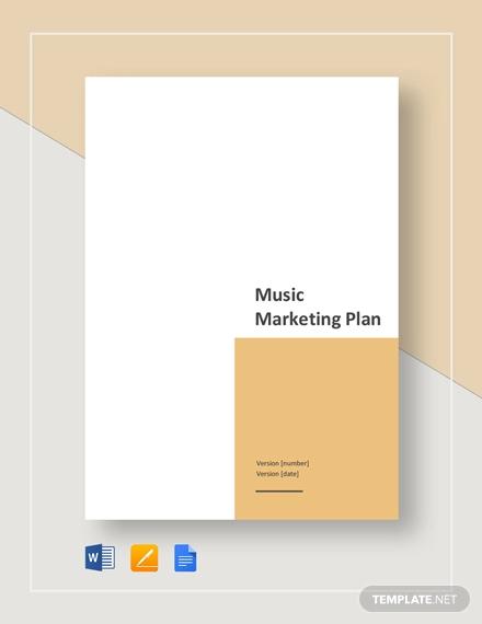 music marketing plan template