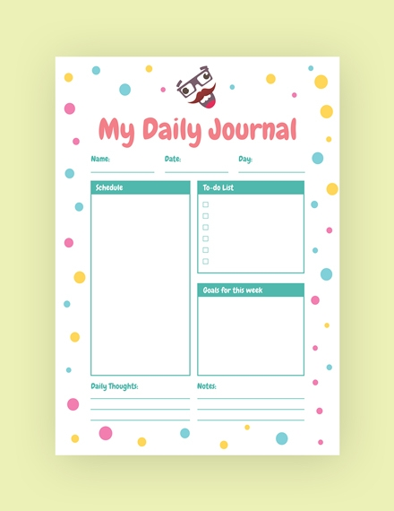 my daily journal template