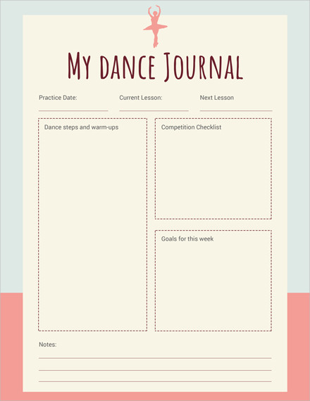 my dance journal1