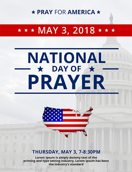 national day of prayer flyer