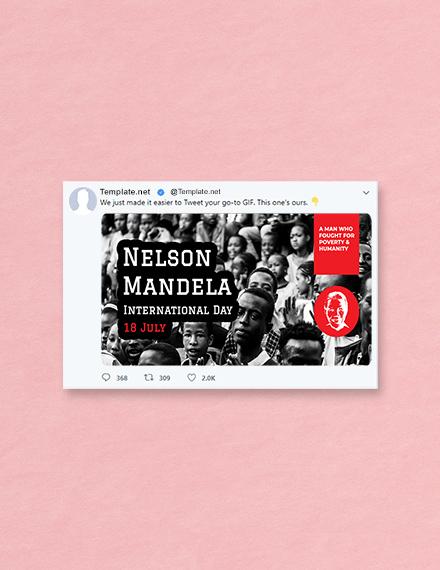 Nelson Mandela Day Twitter Post Template