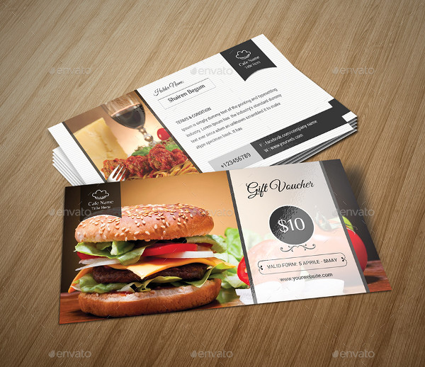 new burger dinner voucher example1