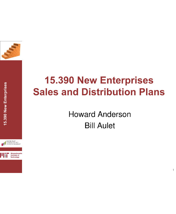 new enterprises 90 day sales and distribution plan example1