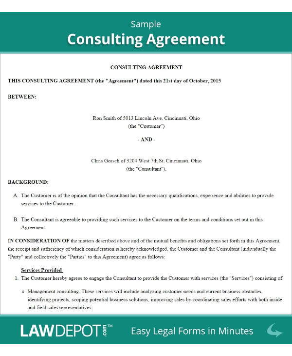 new training consultant contract example